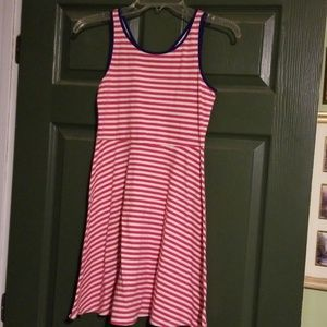 Red/white striped dress
